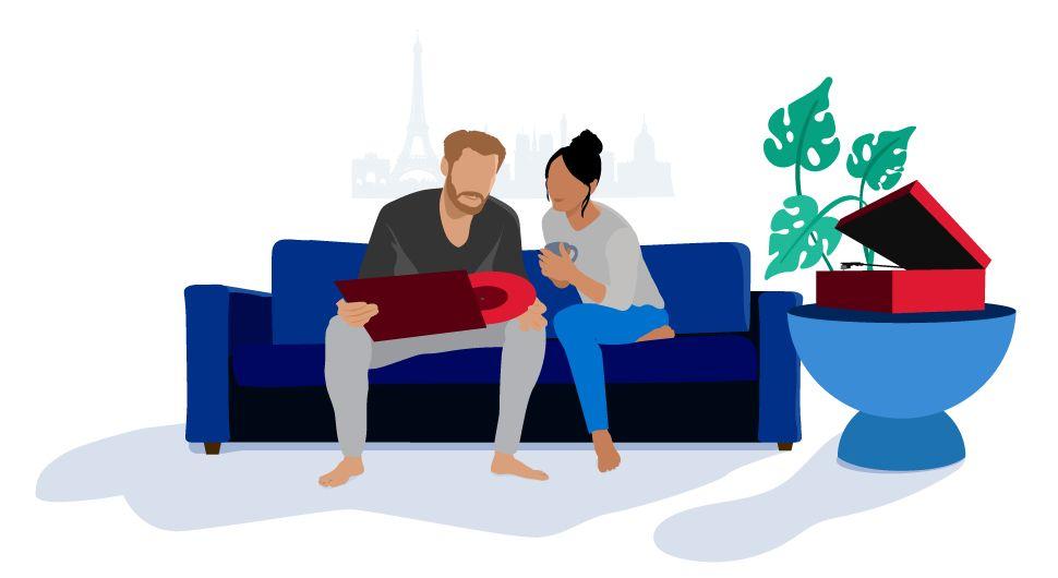 Condo FAQ -  image of people on sofa